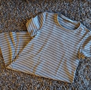 Zara Gray and Black Striped Tunic or Minidress S